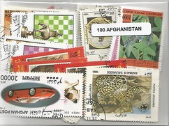 100  timbres d'Afghanistan