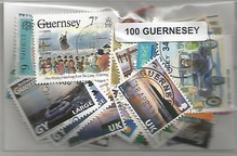Lot de 100 timbres de Guernesey