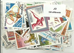 "100 timbres thematique "" J.O """