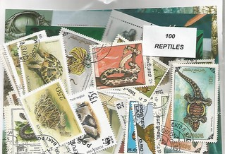 "100 timbres thematique ""Reptiles"""