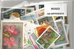 "100 timbres thematique "" Roses"""