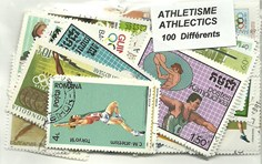 "100 timbres thematique "" Athletisme """