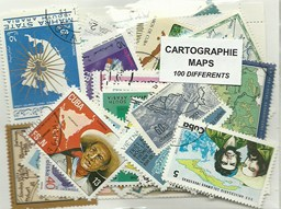 "100 timbres thematique "" Cartographie"""