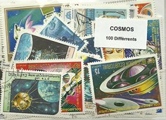"100 timbres thematique "" Cosmos"""