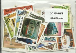 "100 timbres thematique "" Costumes"""