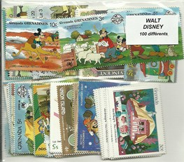 "100 timbres thematique "" disney"""