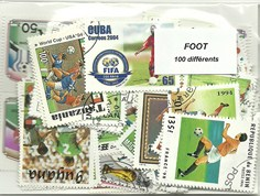 "100 timbres thematique ""Football"""