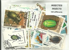 "100 timbres thematique ""Insectes"""