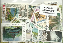 "100 timbres thematique "" Paysages"""