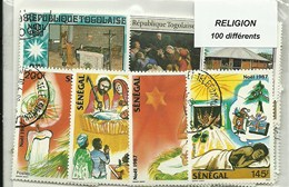 "100 timbres thematique "" Religions"""