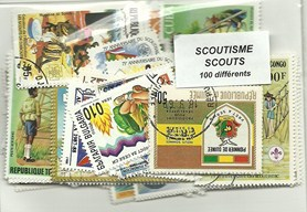 "100 timbres thematique "" Scoutisme"""
