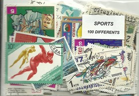 "100 timbres thematique "" Sport """