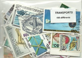 "100 timbres thematique "" Transports"""