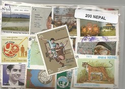 200 timbres du Nepal