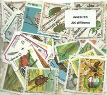 "200 timbres thematique ""Insectes"""