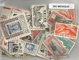 200 timbres du Mexique