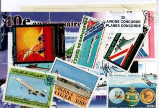"25 timbres thematique "" Concorde """