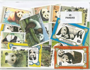 "25  timbres thematique "" Pandas """