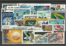 "Lot de 25 timbres thematique ""Planete terre"""