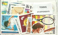 "25  timbres thematique "" Tennis"""