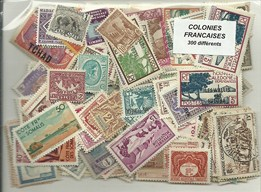 300 timbres des colonies Francaises avant independances