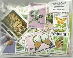 "300 timbres thematique ""Papillons"""