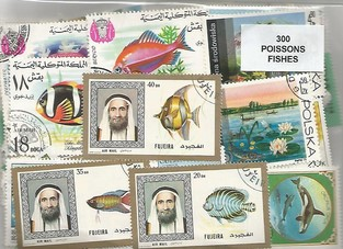 "300 timbres thematique ""Poissons"""
