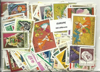 500  timbres d'Europe