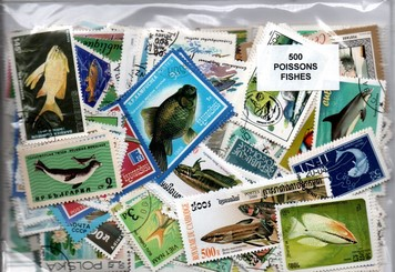 "500 timbres thematique ""Poissons"""