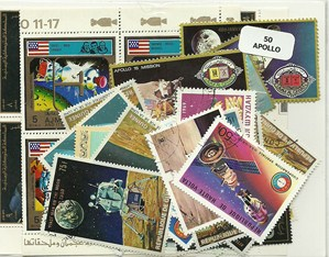 "50 timbres thematique "" Apollo"""