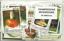 "50 timbres thematique "" Champignons"""