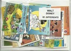 "50 timbres thematique "" Disney"""