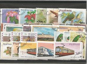 50 timbres des Philippines