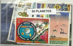 "50 timbres thematique "" Planetes"""