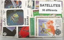 "50 timbres thematique "" Satellites"""