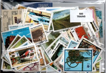 "500 timbres thematique ""trains"""