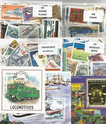 "400 timbres thematique "" Transports"""